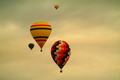Superhero Ice Pop Rights Managed Images - Two racing balloons Royalty-Free Image by Jeff Swan