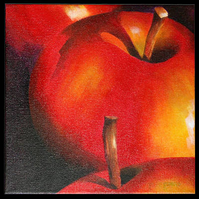 Two Red Apple Art Print by Pepe Romero