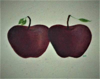 Painting - Two Red Apples by Suzn Art Memorial