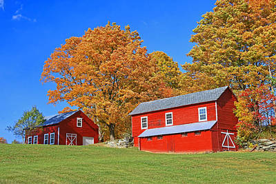 Photograph - Two Red Barns by Allen Beatty