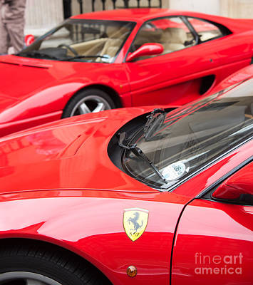 Photograph - Two Red Ferraris by Colin Rayner