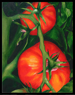 Two Red Tomatoes Art Print by Pepe Romero