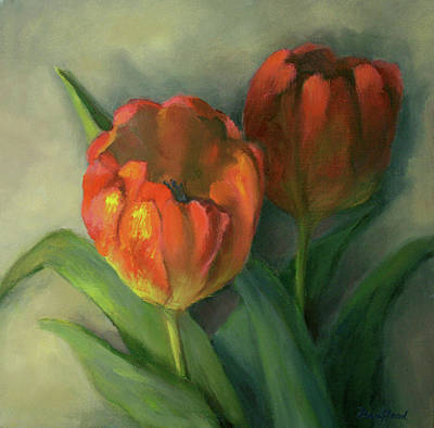 Two Red Tulips Art Print
