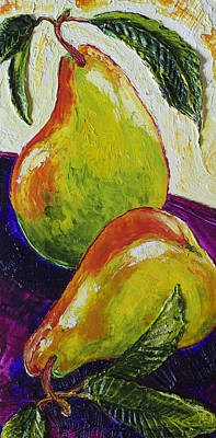 Two Ripe Pears Print by Paris Wyatt Llanso
