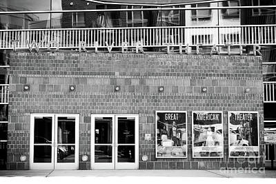 Photograph - Two River Theater In Black And White by Colleen Kammerer