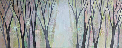 Plum Painting - Two Roads I by Shadia
