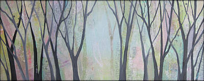 Plum Painting - Two Roads II by Shadia