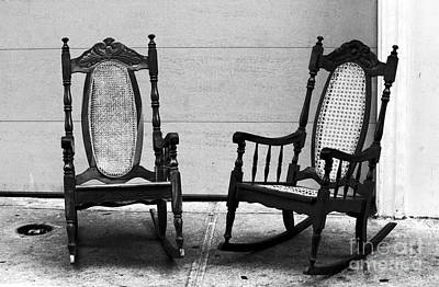 Rocking Chairs Photograph - Two Rocking Chairs by John Rizzuto