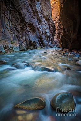 Zion National Park Photograph - Two Rocks In The Narrows by Inge Johnsson