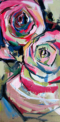 Painting - Two Roses by John Jr Gholson