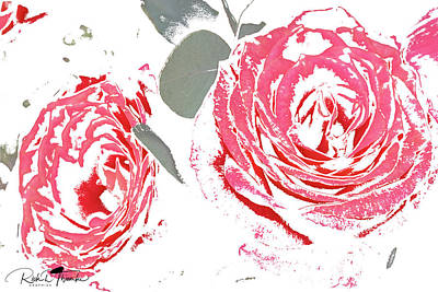 Mixed Media - Two Roses by Rick Thiemke