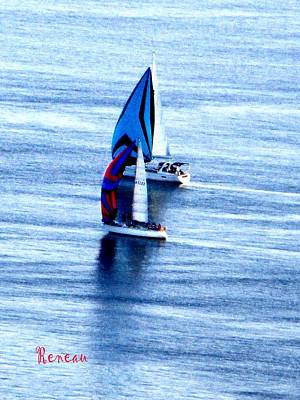 Photograph - Two Sailboats  by Sadie Reneau