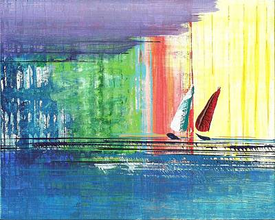 Painting - Two Sails by Corinne Carroll