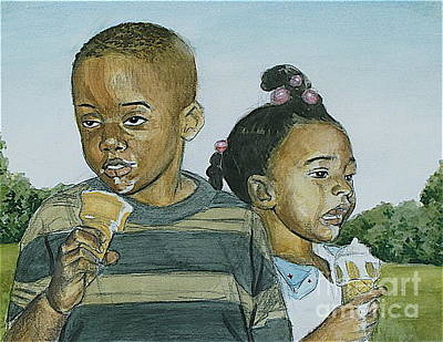 Scoop Painting - Two Scoops by Curtis James