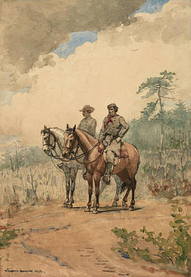 Two Scouts Art Print by Winslow Homer