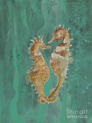 Painting - Two Seahorse Lovers by Robin Maria Pedrero