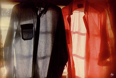 Photograph - Two Shirts In A Window Study No 1 by Wayne King