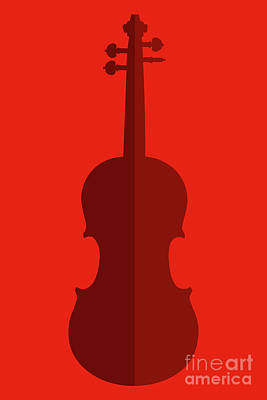 Digital Art - Two Sides To Every Violin by Benjamin Harte