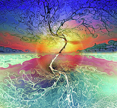 Digital Art - Two Sides To This Tree by Tara Turner