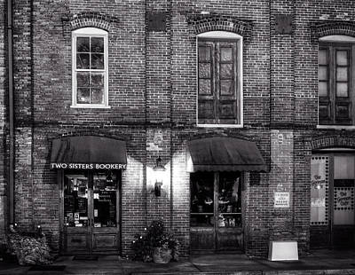 The Two Sisters Photograph - Two Sisters Bookery In Black And White by Greg Mimbs