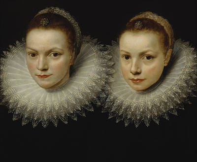 Painting - Two Sisters by Cornelis de Vos