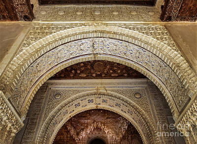 The Two Sisters Photograph - Two Sisters Room Door The Alhambra by