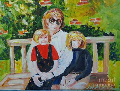 Painting - Two Sisters With Sweet Mom by Jill Morris