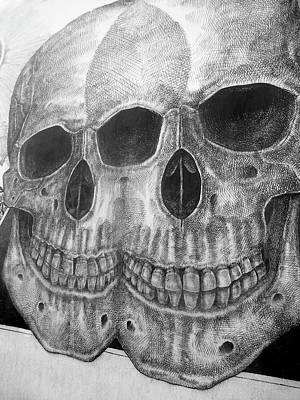 Mauer Photograph - Two Skulls ... by Juergen Weiss