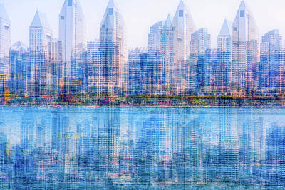 Photograph - Two Skylines by Joseph S Giacalone