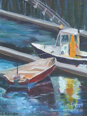 Painting - Two Small Boats by Claire Gagnon
