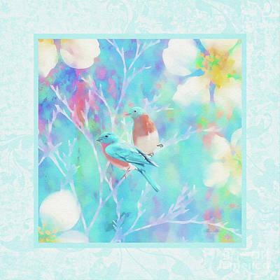 Mixed Media - Two Spring Birds by Olga Hamilton