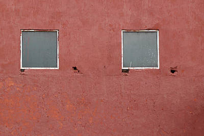 Photograph - Two Squares On A Red Wall by Prakash Ghai