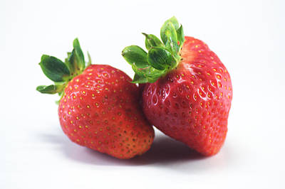 Photograph - Two Strawberries by Chris Day