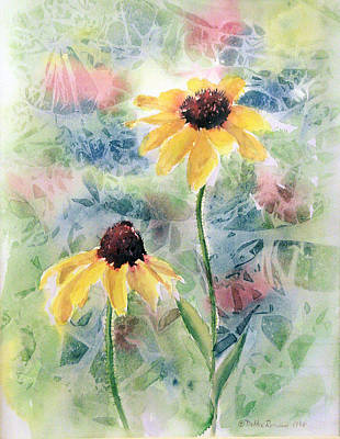 Painting - Two Sunflowers by Debbie Lewis