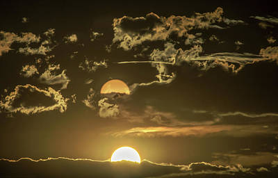 Photograph - Two Suns Setting by Janice Bennett