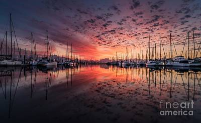 Yacht Photograph - Two Sunset Skies by Thomas Jones