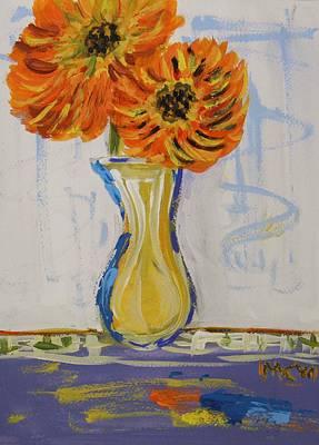 Two Sunshine Flowers Art Print