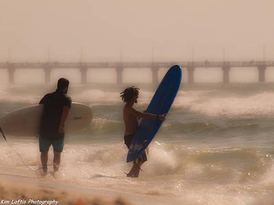 Photograph - Two Surfers by Kim Loftis