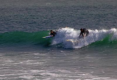 Photograph - Two Surfers by Michael Gordon