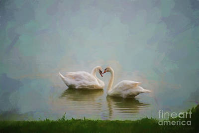 Pop Art - Two Swans by David Arment