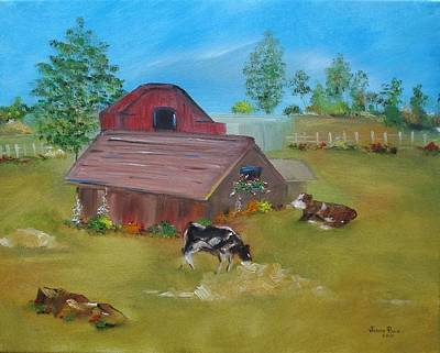 Painting - Two Sweet Cows by Judith Rhue