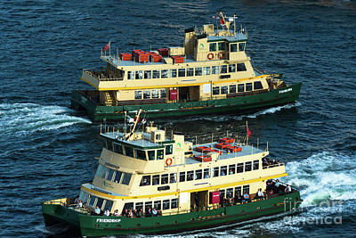 Photograph - Two Sydney Ferries by Andrew Michael
