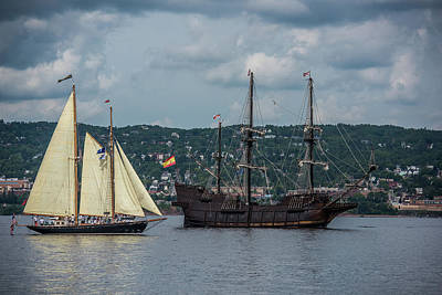 Historic Schooner Photograph - Two Tall Ships by Paul Freidlund