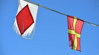 Photograph - Two Tattered Flags by Sandy Taylor