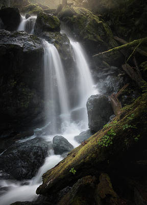 Photograph - Two Tier Waterfall by Adam Gibbs