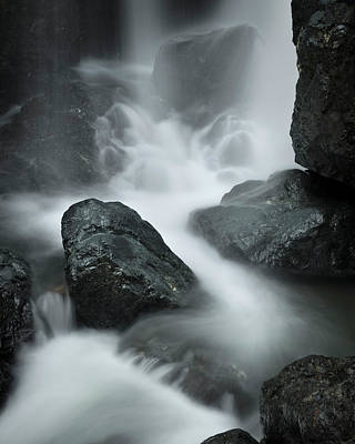 Photograph - Two Tiers Waterfall Close-up by Adam Gibbs
