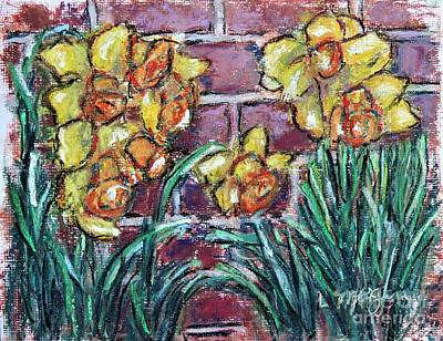Painting - Two Tone Daffodils by Laurie Morgan