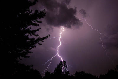 Photograph - Two-tone Lightning by Deborah Smolinske