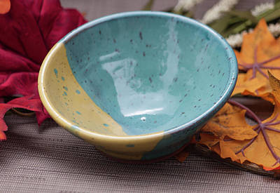 Ceramic Art - Two Toned Cereal Bowl by Suzanne Gaff