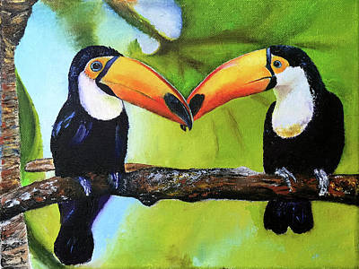 Painting - Two Toucans For Ezme by Terry R MacDonald